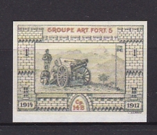 Timbre Erinnophilie  GROUPE ART.FORT.5  1914-1917 - Military Heritage
