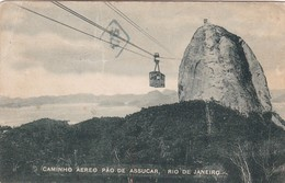 1922 CPA BRAZIL. CAMINHO AEREO PAO DE ASSUCAR, RIO DE JANEIRO. A.C.DA COSTA RIBEIRO. CIRCULEE TO ARGENTINE. - BLEUP - Rio De Janeiro