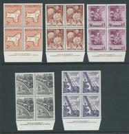 Christmas Island 1963 Pictorial Definitives 5 Imprint Blocks 2c - 10c MNH - Christmas Island