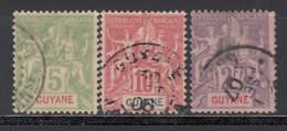 1900-04   Yvert Nº 43, 44, 48, - Usati