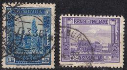 SOMALIA - 1932/1937 - Lotto Formato Da Due Valori Obliterati: Yvert 170 E 172. - Somalia