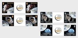 Guernsey 2019 - 50th Anniversary Of The Moon Landings Gutter Pairs Set Mnh - Guernsey
