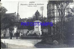 116239 SPAIN ESPAÑA GIJON ASTURIAS PLAZUELA Y ESTATUA DE JOVELLANOS POSTAL POSTCARD - Espagne