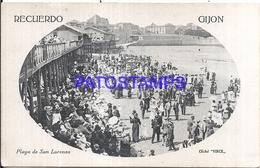 116248 SPAIN ESPAÑA GIJON ASTURIAS BEACH PLAYA DE SAN LORENZO  POSTAL POSTCARD - Espagne