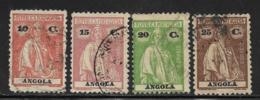 Angola Scott # 135,138,140,142 Used Ceres, 1914,1925 - Angola