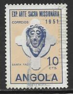 Angola Scott # 359 Used Head Of Christ, 1952 - Angola