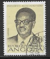 Angola Scott # 599 Used Neto, 1976 - Angola