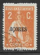 Azores Scott # 162 Used Ceres, 1918, Short Perf - Azores