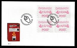 DENMARK 1990 FRAMA Labels: First Day Cover CANCELLED - Vignette Di Affrancatura (ATM/Frama)