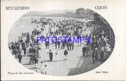 116250 SPAIN ESPAÑA GIJON ASTURIAS BEACH PLAYA DE SAN LORENZO  POSTAL POSTCARD - Espagne