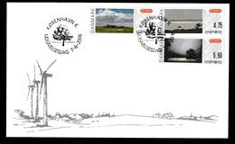 DENMARK 2006 FRAMA Landscapes (self-adhesive): First Day Cover CANCELLED - Vignette Di Affrancatura (ATM/Frama)