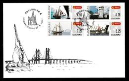 DENMARK 2007 FRAMA Bridges (self-adhesive): First Day Cover CANCELLED - Vignettes D'affranchissement (ATM/Frama)