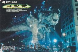 Rare Carte Prépayée Japon - Cinema Film - GODZILLA / Dinosaure - Japan Movie Prepaid Bus  Card - 11449 - Cinéma