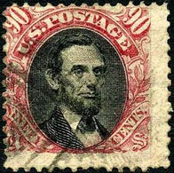 US #122 Used 30c Pictorial  Of 1869 W/G Grill 9.5x9mm - Used Stamps