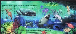 AUSTRALIA, 1998 PLANET OCEAN MINISHEET MNH - Neufs