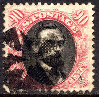 US #122 Used 30c Pictorial  Of 1869 W/G Grill 9.5x9mm GREAT CENTERING... FANCY CANCEL - Used Stamps