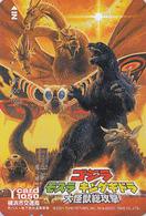 Rare Carte Prépayée Japon - Cinema Film - GODZILLA VS MOTHRA / Dinosaure - Japan Movie Prepaid Bus Card - 11450 - Cinéma