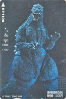 Rare Carte Prépayée Japon - Cinema Film - GODZILLA / Dinosaure - Japan Movie Prepaid Bus Card - 11452 - Cinéma