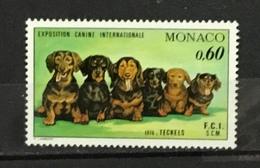 MONACO # 1017.  60c, International Dog Show - Dachshunds. MNH (**) - Monaco