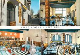 "/ CPSM FRANCE 06 ""Antibes, Restaurant Chez Roger"" - Autres"