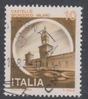 Italy Republic S 1505 1980 Castle   Lire 10 Sforzesco Milano,used - 1971-80: Used