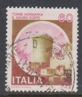 Italy Republic S 1509 1980 Castle   60 Lire Torre Normanna  S.Mauro Forte,used - 1971-80: Used
