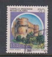 Italy Republic S 1509A 1980 Castle  70 Lire  Aragonese Reggio Calabria,used - 1971-80: Used