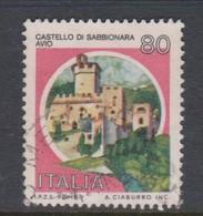 Italy Republic S 1509B 1981 Castle Lire80 Sabbionaria-Avio,used - 1971-80: Used
