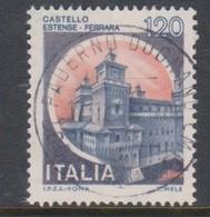 Italy Republic S 1512 1980 Castle  Lire 120 Estense Ferrara,used - 1971-80: Used