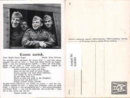 624204,WK 2 Liedkarte Soldaten Soldat Uniform Zug Komm Zurück - Weltkrieg 1939-45