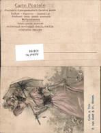 Reklame AK Cafes Thes P. Van Oordt & Co. Anvers Antwerpen Schirm Jugendstil Frau - Werbepostkarten
