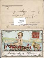 624192,Reklame Lithographie Nestle Produkt Kinder Zwerge 1916 - Werbepostkarten