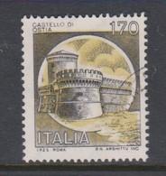 Italy Republic S 1514 1980 Castle  170 Lire Ostia Roma,used - 1971-80: Used