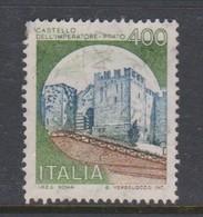 Italy Republic S 1520 1980 Castle  Lire 400 Imperatore Prato,used - 1971-80: Used