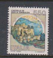 Italy Republic S 1522A 1984 Castle  Rocca Sinibalda ,used - 1971-80: Used