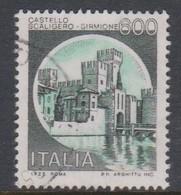 Italy Republic S 1523 1980 Castle  Lire 600 Scaligero Sirmione,used - 1971-80: Used