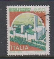 Italy Republic S 1523A 1986 Castle  Montecchio Castiglio Fiorentino ,used - 1971-80: Used