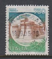 Italy Republic S 1524A 1990 Castle Urbisaglia. 750 Lire  ,used - 1971-80: Used