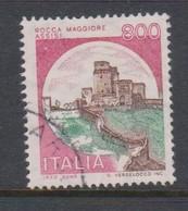 Italy Republic S 1525 1980 Castle  Lire 800 Rocca Maggiore Assisi,used - 1971-80: Used