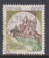 Italy Republic S 1526 1980 Castle  Lire 900 Saint Pierre,used - 1971-80: Used