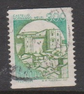 Italy Republic S 1530B 1981 Castle 300 Lire Green Normanno Menfi Used - 1971-80: Used
