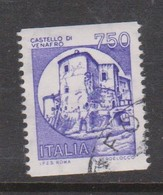 Italy Republic S 1530G 1988 Castle 750 Lire Violet ,used - 1971-80: Used