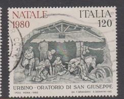 Italy Republic S 1541 1980 Christmas ,used - 1971-80: Used
