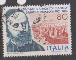Italy Republic S 1545 1981 Daniele Comboni 150th Birth Anniversary ,used - 1971-80: Used