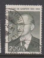 Italy Republic S 1546 1981 Birth Centenary Of Alcide De Gasperi ,used - 1971-80: Used