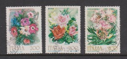 Italy Republic S 1548-1550 1981 Flowers 1st Issue ,used - 1971-80: Used