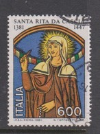 Italy Republic S 1553 1981 600th Birth Anniversary Of St Rita ,used - 1971-80: Used