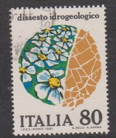 Italy Republic S 1559 1981 Hydro-geological Research ,used - 1971-80: Used