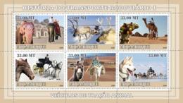 Mozambique 2009  Fauna  Vehicles Tractive Animal ,elephant , Camel Dog ,horse - Mozambique