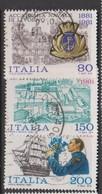 Italy Republic S 1566-1568 1981Naval Academy Centenary ,used - 1971-80: Used